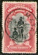 CONGO BELGA Muy Antiguo Sello Usado FAMILIA BENGALÍ X 5 Francos Años 1894-00 - 1894-1923 Mols: Afgestempeld