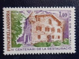 ANDORRE 1980  Y&T N° 289 ** - 4e CENTEN. DE LA RESTAURATION DE LA MAISON DES VALLEES - Ungebraucht