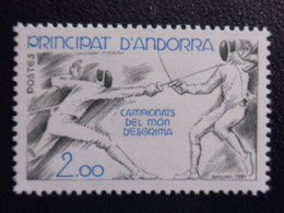 ANDORRE 1981  Y&T N° 296 ** - CHAMPIONNATS DU MONDE D'ESCRIME - Ungebraucht