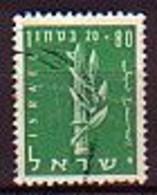 ISRAEL - 1956 - Au Profit De La Dejenese Nationale - 80p - Obl. - Yv 116 - Gebraucht (ohne Tabs)
