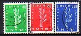 ISRAEL - 1956 - Au Profit De La Dejenese Nationale - 3v - Obl. - Yv 116/18 - Gebraucht (ohne Tabs)