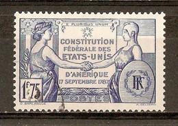 1937 - Sesquicentenaire Constitution Des Etats-Unis N°357 - Gebraucht