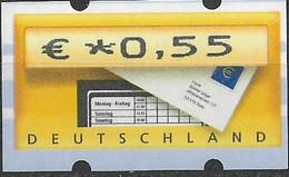 2002 Deutschland Germany  Mi. 5.1 **MNH  Automatenmarke  EUR 0,55 - Ungebraucht