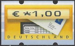 2002 Deutschland Germany  Mi. 5.1 **MNH Atuomaenmarke  EUR 1,00 - Ungebraucht