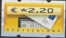 2002 Deutschland Germany  Mi. 5.1 **MNH Automatenmarke  EUR 2,20 - Ungebraucht