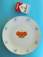 FK DUKLA Praha - Prague (Czech Republic) Beautifull Vintage Football Souvenir Epiag Porcelain Plate 1980's LARGER SIZE - Bekleidung, Souvenirs Und Sonstige