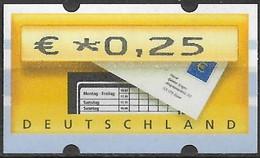 2002 Deutschland Germany  Mi. 5.1 **MNH Automatenmarke  EUR 0,25 Mit Nr. 1840 - Ungebraucht