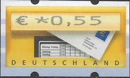 2002 Deutschland Germany  Mi. 5.1 **MNH Automatenmarke  EUR 0,55 Mit Nr. 930 - Ungebraucht