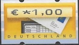 2002 Deutschland Germany  Mi. 5.1 **MNH Automatenmarke  EUR 1,00 Mit Nr. 1645 - Ungebraucht