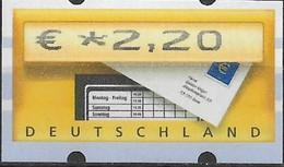 2002 Deutschland Germany  Mi. 5.1 **MNH Automatenmarke  EUR 2,20 Mit Nr. 1770 - Ungebraucht