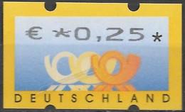 2002 Deutschland Germany  Mi. 4 **MNH Automatenmarke  EUR 0,25 - Ungebraucht