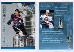 """BRYAN BERARD---UPPER DECK """"Lord Stanley's Heroes"""" 1998-9 (NHL--3-4) - 1990-1999"""