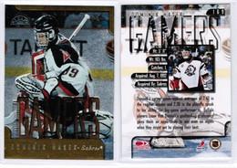 "DOMINIK HASEK---DONRUSS LEAF ""Gamers"" 1997-98 (NHL--3-7) - 1990-1999"