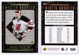 "MARTIN BRODEUR---UPPER DECK ""Award Predictor---REDEMPTION"" 1995-96 (NHL--3-8) - 1990-1999"