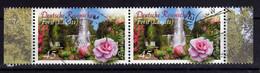ALLEMAGNE Germany 2013 Jardin Forst Lausitz Fleur Rose 2x Obl. - Gebraucht