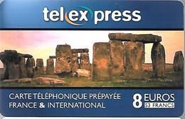CARTE²-PREPAYEE-8€-TEL EXPRESS-MENHIRS--Gratté-Plastic Epais Glacé- -TBE    - - Prepaid-Telefonkarten: Andere