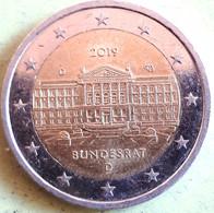 DUITSLAND; 2 EURO 2019 D BUNDESRAT - Deutschland