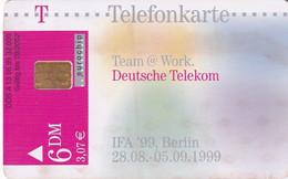 GERMANY - IFA '99 Berlin/Team @ Work(A 13), Tirage 32000, 08/99, Used - A + AD-Series : Werbekarten Der Dt. Telekom AG