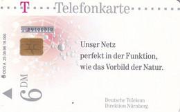 GERMANY - Direktion Nürnberg/Netz(A 25), Tirage 19000, 08/98, Used - A + AD-Series : Werbekarten Der Dt. Telekom AG