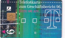 GERMANY - Geschäftsbericht 96/Here We Are(A 07), Tirage 17000, 04/97, Used - A + AD-Series : Werbekarten Der Dt. Telekom AG
