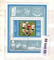 1973 Olympic Congress -Varna (EMBLEMS - MUNCHEN 72 ) S/S – Used/oblitere (O) Bulgaria /Bulgarie - Blocks & Kleinbögen