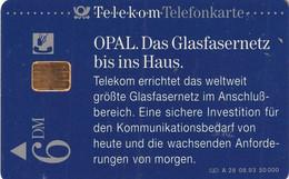 GERMANY - OPAL/Das Glasfasernetz Bis Ins Haus(A 28), CN : 1310, Tirage %50000, 08/93, Used - A + AD-Series : Werbekarten Der Dt. Telekom AG