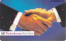GERMANY(chip) - Telekom Service/Handschlag(A 17), CN : 2305, Tirage %90000, 04/93, Used - A + AD-Series : Werbekarten Der Dt. Telekom AG