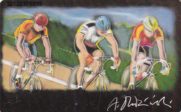 GERMANY - Cycling, Painting/Andrzej Dudzinski(A 07), Tirage 54000, 01/93, Used - A + AD-Series : Werbekarten Der Dt. Telekom AG