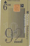 GERMANY - Das Goldene Kabel 1992(A 11), CN : 2305, Tirage %42000, 02/93, Used - A + AD-Series : Werbekarten Der Dt. Telekom AG