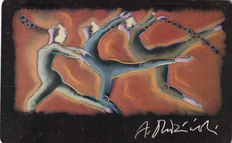 GERMANY(chip) - Painting/Andrzej Dudzinski, Team Olympia 1992/Gymnastics(A 41 D), CN : 3203, Tirage %40000, 12/91, Used - A + AD-Series : Werbekarten Der Dt. Telekom AG