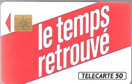CARTE²-PRIVEE-1990-D266-50U-SO2-LE TEMPS RETROUVE-Utilisé-V°N°4Pe 2597-TBE - Privat
