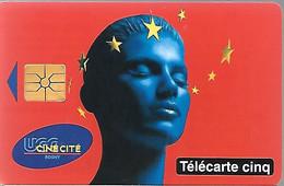 CARTE²-PRIVEE-5U-GN356A-01/97-UGC ROSNY-Utilisé-V° Série 62001-TBE -LUXE/RARE - 5 Einheiten