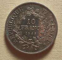 (Monnaies). France. 10 Fr Argent Hercule. Dupré. 1968 - K. 10 Francs