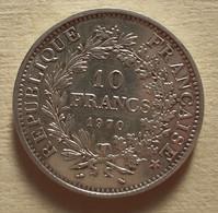 (Monnaies). France. 10 Fr Argent Hercule. Dupré. 1970 - K. 10 Francs