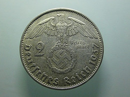 Germany 2 Reichsmark 1937 A Silver - 2 Reichsmark