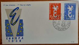 BELGIO 1958 FDC EUROPA - 1951-60