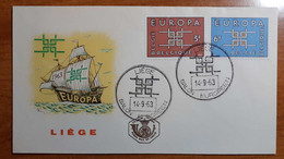 BELGIO 1963 FDC EUROPA - 1961-70