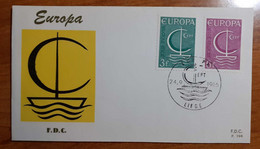 BELGIO 1966 FDC EUROPA - 1961-70