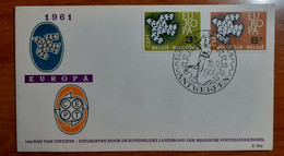 BELGIO 1961 FDC EUROPA - 1961-70