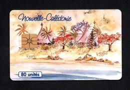 """Télécarte Nouvelle-Calédonie 80 UNITES """"Cases Et Lagon"""" - Neukaledonien"""