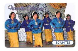 """Télécarte Nouvelle-Calédonie 80 UNITES """"Danse Du Groupe  De L'A.I.N.C"""" - Neukaledonien"""