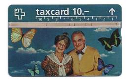 """Carte Téléphonique TAXCARD 10 """"Grands-Parents Et Papillons"""" - Schweiz"""