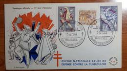 BELGIO 1959 FDC TUBERCULOSE - 1951-60