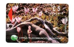 "CYPRUS TELECOMMUNICATIONS AUTHORITY £5 Telecard ""AKAMAS FOREST"" - Zypern"