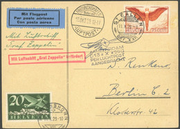 ZULEITUNGSPOST 41A BRIEF, Schweiz: 1929, Hollandfahrt, Prachtkarte - Luftpost