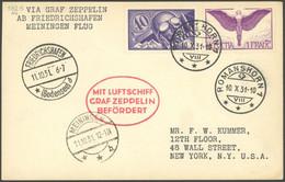 ZULEITUNGSPOST 132 BRIEF, Schweiz: 1931, Fahrt Nach Meiningen, Prachtkarte - Luftpost
