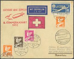 ZULEITUNGSPOST 189 BRIEF, Schweiz: 1932, 8. Südamerikafahrt, Seltene Postaufgabe LUGANO, Brief Leichte Bedarfsmängel - Luftpost