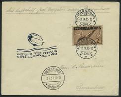 ZULEITUNGSPOST 229Aa BRIEF, Schweiz: 1933, 6. Südamerikafahrt, Prachtbrief - Luftpost