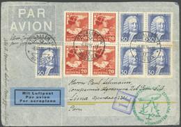 ZULEITUNGSPOST 286 BRIEF, Schweiz: 1934, Weihnachtsfahrt, Brief Nach Lima/Peru, Feinst - Luftpost