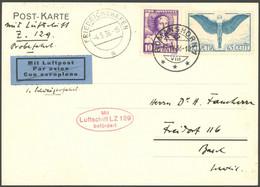 ZULEITUNGSPOST 405 BRIEF, Schweiz: 1936, Rundfahrt, 2. Auflieferungskarte, Friedrichshafen 4.5.36 Zur Probefahrt Der Hin - Luftpost